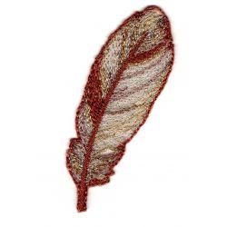 Ecusson Thermocollant Basket Sequins Coloris Rouge 5 x 5,50 cm