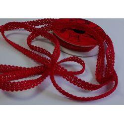 RUBAN Rouge 10 mm Bouclette 2 Mètres