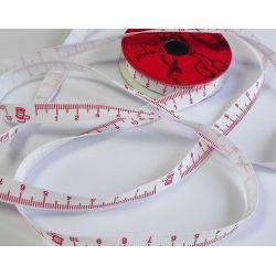RUBAN Rouge 10 mm Mètre Ruban de Couturière 2 Mètres