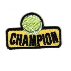Ecusson Thermocollant Champion de Tennis 3,50 x 5 cm