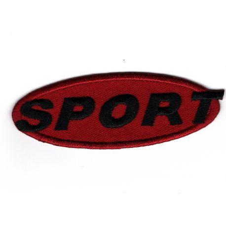 Ecusson Thermocollant Sport Coloris Rouge 2,50 x 7 cm