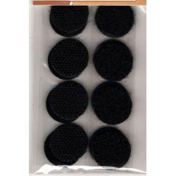 8 Pastilles Accrochantes Adhésives Autocollantes 19 mm Coloris Noir