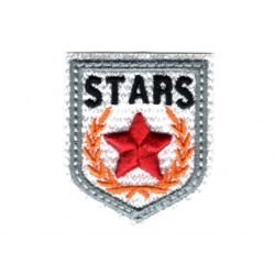Ecusson Thermocollant Blason Etoile Star Coloris Blanc 3,50 x 4 cm