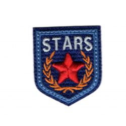 Ecusson Thermocollant Blason Etoile Star Coloris Bleu 3,50 x 4 cm