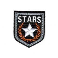 Ecusson Thermocollant Blason Etoile Star Coloris Noir 3,50 x 4 cm