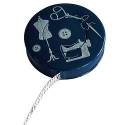 Mètre Ruban de Couturière Mannequin Couture Ciseaux Coloris Bleu Marine 150 cm