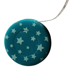 Mètre Ruban de Couturière Etoiles Coloris Turquoise Foncé 150 cm