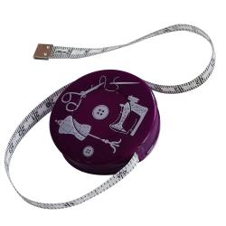 Mètre Ruban de Couturière Mannequin Couture Ciseaux Coloris Violet 150 cm