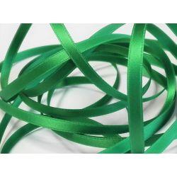 Ruban Satin Luxe Largeur 6 mm double face Coloris Vert Printemps longueur 3 mètres