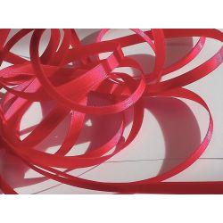 Ruban Satin Luxe Largeur 6 mm double face Coloris Rouge longueur 3 mètres