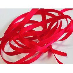 Ruban Satin Luxe Largeur 6 mm double face Coloris Rouge Flamme longueur 3 mètres