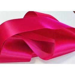 Ruban Satin Luxe Largeur 70 mm double face Coloris Rose Fuschia longueur 3 mètres