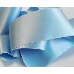 Ruban Satin Luxe Largeur 70 mm double face Coloris Bleu Clair longueur 3 mètres