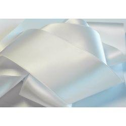 Ruban Satin Luxe Largeur 70 mm double face Coloris Blanc longueur 3 mètres