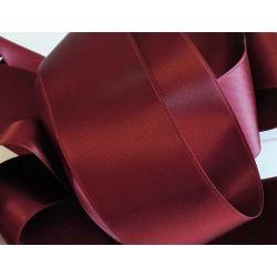 Ruban Satin Luxe Largeur 50 mm double face Coloris Bordeaux longueur 3 mètres