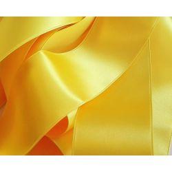 Ruban Satin Luxe Largeur 50 mm double face Coloris Jaune longueur 3 mètres