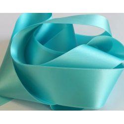 Ruban Satin Luxe Largeur 50 mm double face Coloris Bleu Turquoise longueur 3 mètres