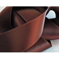 Ruban Satin Luxe Largeur 50 mm double face Coloris Marron longueur 3 mètres