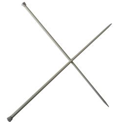 1 Paire d' AIGUILLES à TRICOTER Taille 6 ALUMINIUM 40 cm de long