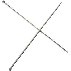 1 Paire d' AIGUILLES à TRICOTER Taille 5,50 ALUMINIUM 40 cm de long