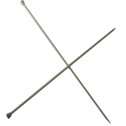 1 Paire d' AIGUILLES à TRICOTER Taille 5 ALUMINIUM 40 cm de long