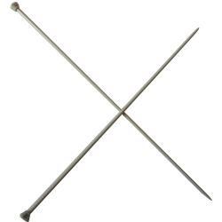 1 Paire d' AIGUILLES à TRICOTER Taille 4,50 ALUMINIUM 40 cm de long