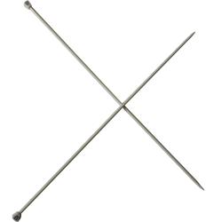 1 Paire d' AIGUILLES à TRICOTER Taille 4 ALUMINIUM 40 cm de long