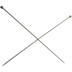 1 Paire d' AIGUILLES à TRICOTER Taille 3,50 ALUMINIUM 40 cm de long