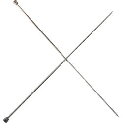 1 Paire d' AIGUILLES à TRICOTER Taille 3 ALUMINIUM 40 cm de long