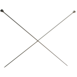 1 Paire d' AIGUILLES à TRICOTER Taille 2,50 ALUMINIUM 40 cm de long