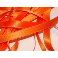Ruban Satin Luxe Largeur 10 mm double face Coloris Orange longueur 3 mètres