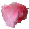 Environ 25 PLUMES Coloris ROSE CLAIR deco fête mariage