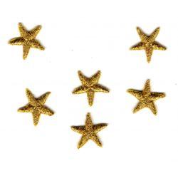 Ecusson Thermocollant 6 Mini mini ETOILES Coloris dorées or 1 x 1 cm