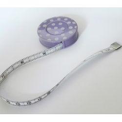 Mètre Ruban de Couturière A Pois Coloris Violet 150 cm