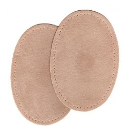 2 Renforts coude genou à coudre Coloris Beige Imitation Daim 9,20 x 13,50 thermocollant provisoire