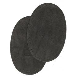 2 Renforts coude genou à coudre Coloris Gris Foncé Imitation Daim 9,20 x 13,50 thermocollant provisoire