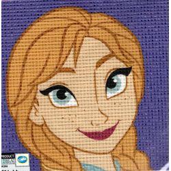 Kit Canevas Elsa La Reine des Neiges Frozen 12 x 12 cm