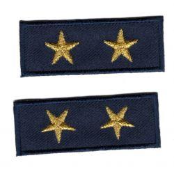 Ecusson Thermocollant 2 x Petit Galon Etoile Coloris Doré Or 2 x 5,50 cm militaire