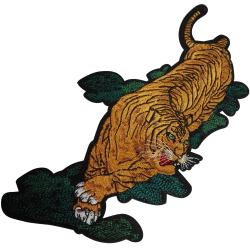 Ecusson Thermocollant Tigre Taille XXL 16 x 29 cm
