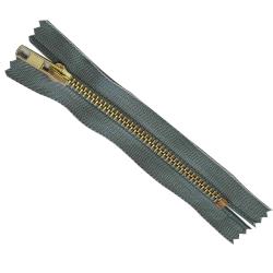 FERMETURE eclair 8 cm Coloris JEANS pour pantalon jeans maille métal 5 mm