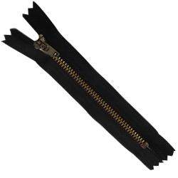 FERMETURE eclair 10 cm Coloris NOIR pour pantalon jeans maille métal 5 mm