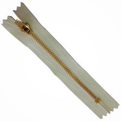 FERMETURE eclair 10 cm Coloris ECRU pour pantalon jeans maille métal 5 mm