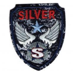 Ecusson Thermoccollant Blason Militaire Silver 5 x 6 cm