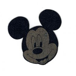 Patch Ecusson Thermocollant Mickey Jeans 5 x 5,50 cm