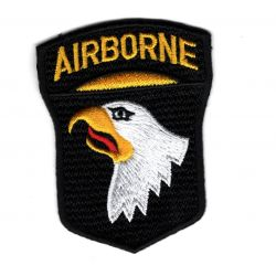 Patch Ecusson Thermocollant Airborne Tête d' Aigle 5 x 6,50 cm