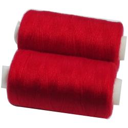 2 Bobines 500 mètres Polyester Coloris Rouge Fil à Coudre