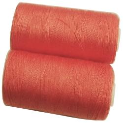 2 Bobines 500 mètres Polyester Coloris Saumon Fil à Coudre