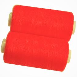 2 Bobines 500 mètres Polyester Coloris Fluo Orange Fil à Coudre