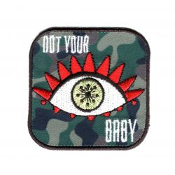 Patch Ecusson Thermocollant Œil Eye Not Your Baby Camouflage Militaire 5 x 5 cm