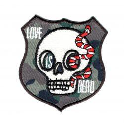 Patch Ecusson Thermocollant Tête de Mort Skull Blason Camouflage Militaire 5 x 5,50 cm
